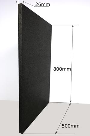 Block EPP 800x500x26 30g/l black