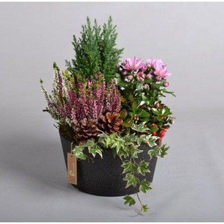 Flower pot IQBANA ISEO 255 black