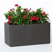 Flower pot IQBANA RECTANGLE 620 black