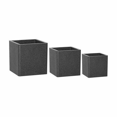 Set of 4 IQBANA SQUARE pots - Black