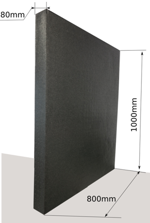 Block EPP 1000x800x80 80g/l schwarz