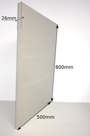 Block EPP 800x500x26 60g/l weiß