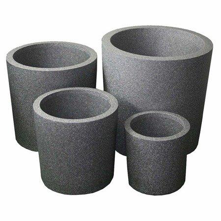 Ein Set von 4 IQBANA SQUARE Töpfen - Grau - 480/390/320/250
